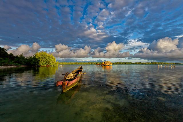 Lagoon, Boat, Morning, The Water Shed, Atoll
