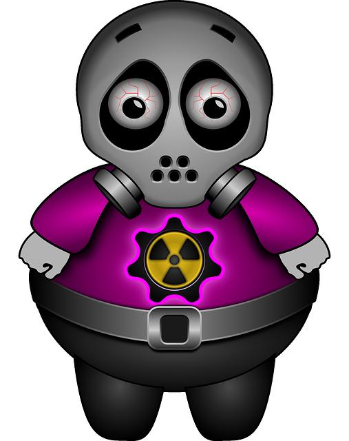Alien, Sad, Gas Mask, Atomic, Radioactive, Contaminated