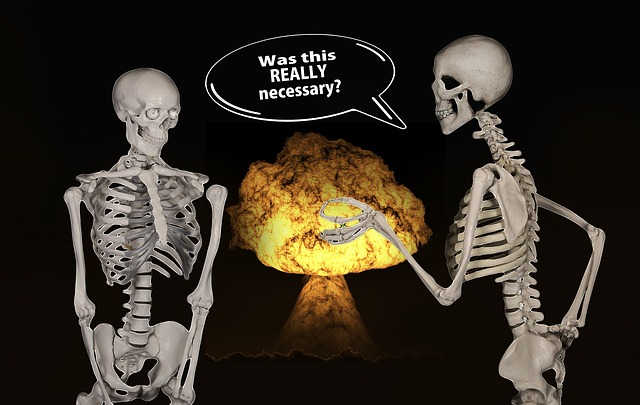 Skeletons, Atomic Bomb, Nuclear Weapons, Explosion