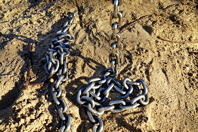Chain, Link, Connection, Attachment, Security, Steel