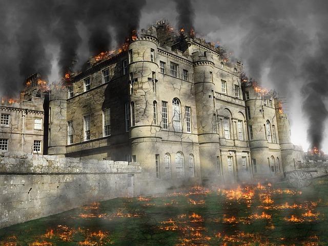 Castle, Ruin, Attack, Destruction