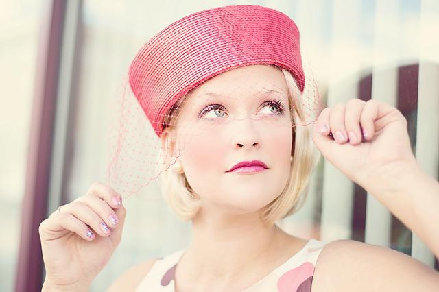 Vintage, Woman, Pretty, Glamorous, Attractive, Hat