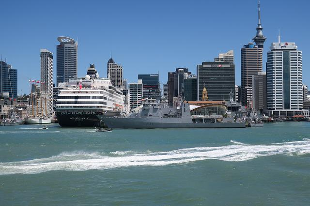 Auckland, Waterfront, Navy, Cruise Ship, Tall Ship