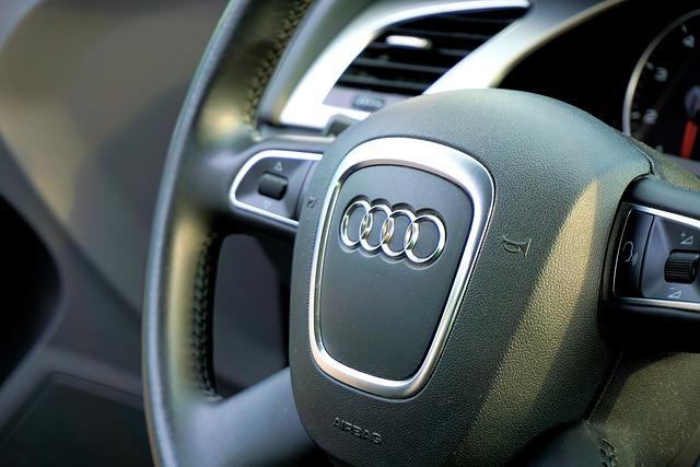 Audi, Steering Wheel, Cockpit, Auto, Pkw, Vehicle