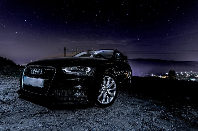 Audi, A4, Star, Outdoor, Nature, Dark, Auto, Pkw