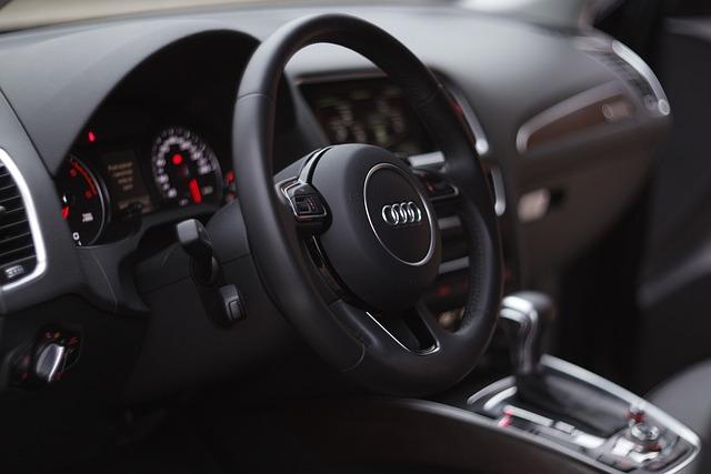 Auto, Steering Wheel, Audi