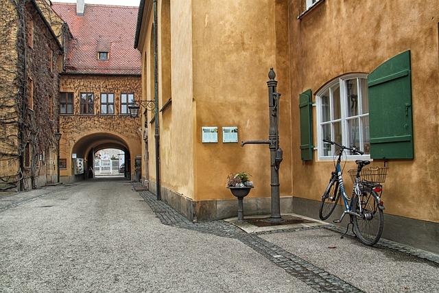 Augsburg, Germany Street, Buildings, City, Urban