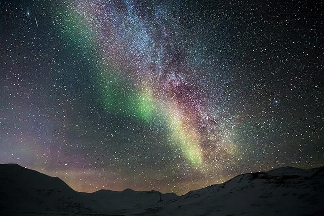 Aurora, Northen Lights, Ice, Mountain, Trip, Adventure