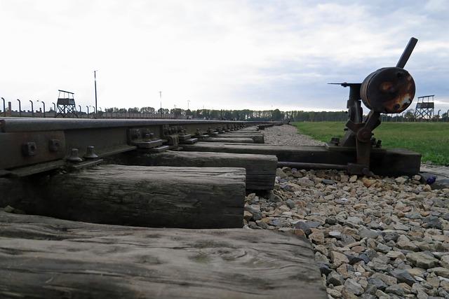 Auschwitz, Poland, War, Camp, Tracks, Train, Memorial