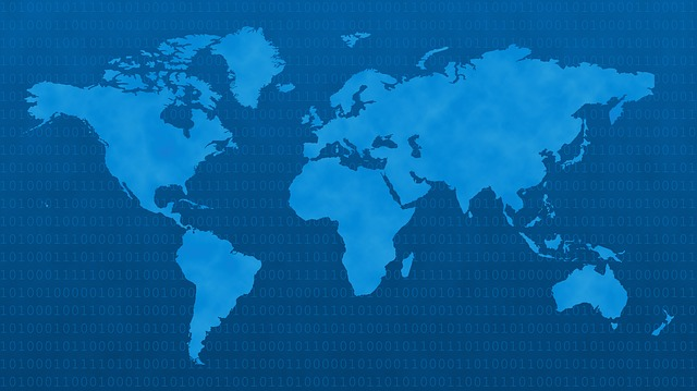 Africa, America, Asia, Atlantic, Australia, Blue