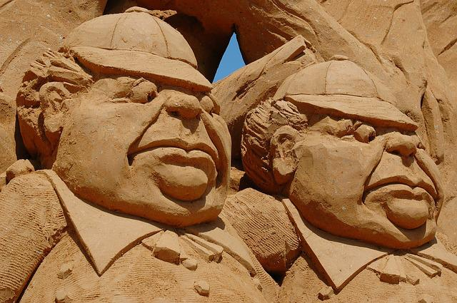 Sculpture, Art, Old Men, Sand, Australia, Frankston