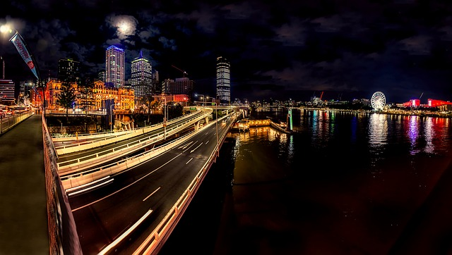 Brisbane, Australia, City, Urban, Buildings, Lights