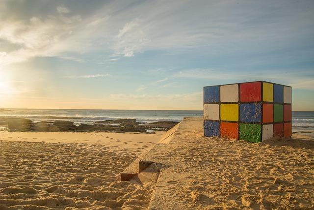 Rubik's Cube, Maroubra, Sydney, Australia, Seashore