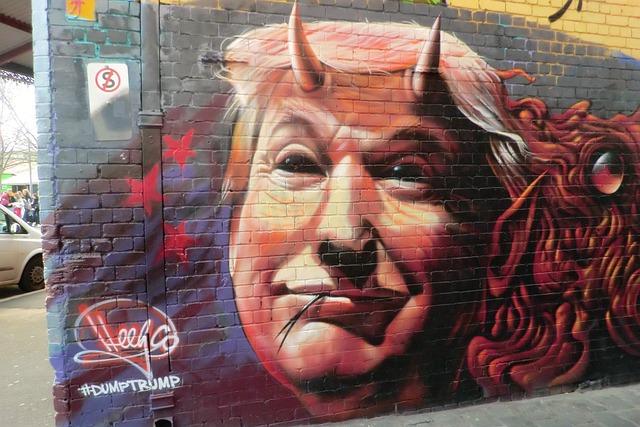 Graffiti, Trump, Melbourne, Australia