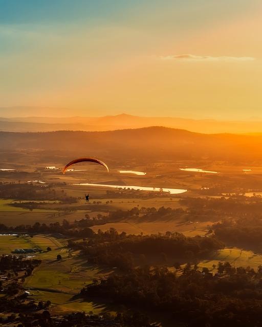 Australia, Paragliding, Leisure, Recreation, Parachute