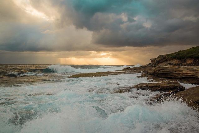 Maroubra, Sydney, Australia, Seashore, Sunrise, Rocks