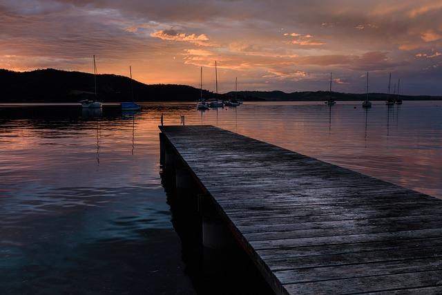 Australia, Tasmania, Water, Sunset, Reflection, Dawn