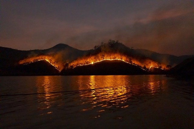 Wildfire, Water, Dangerous, Mountain, Forest, Australia
