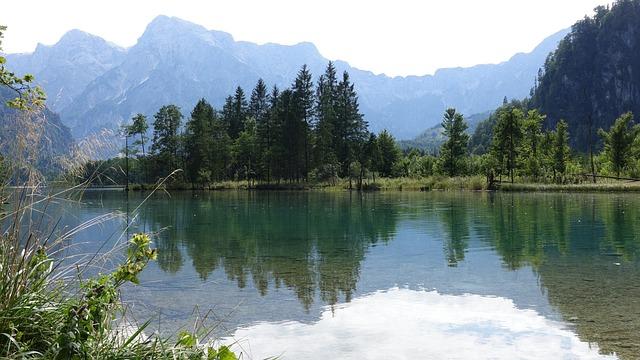 Bergsee, Almsee, Mountains, Alpine, Austria, Almtal