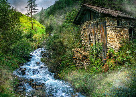 Nature, Landscape, Water, Austria, Stones, Trees