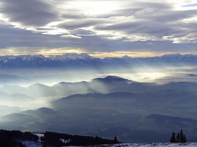 Austria, Carinthia, Snow, Mountain, Cloud, Winter