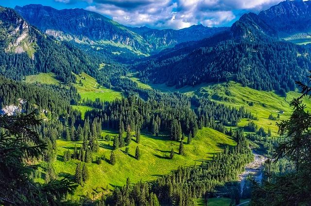 Austria, Mountains, Landscape, Scenic, Stream, Valley