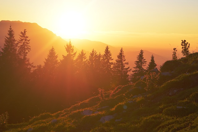 Lighting, Sunset, Outlook, Afterglow, Warm, Austria