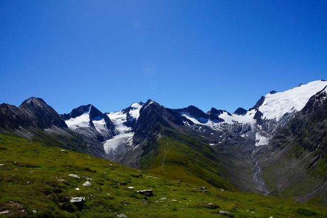Mountains, Alpine, Austria, Sky, Blue, Mountain Meadows