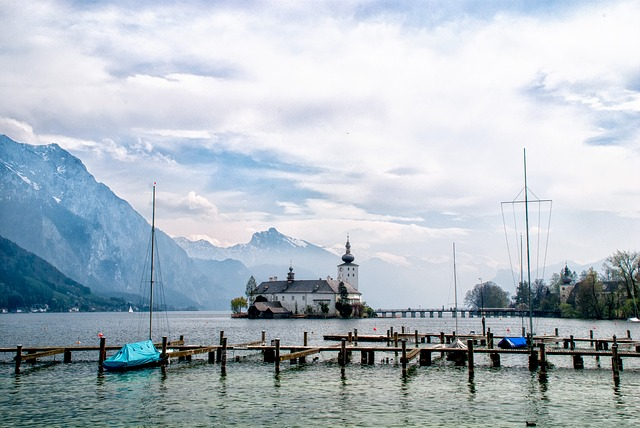 Castle Venue, Traunsee, Austria, Lake, Water, Castle