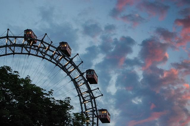 Prater, Wheel, Amusement Park, Vienna, Austria