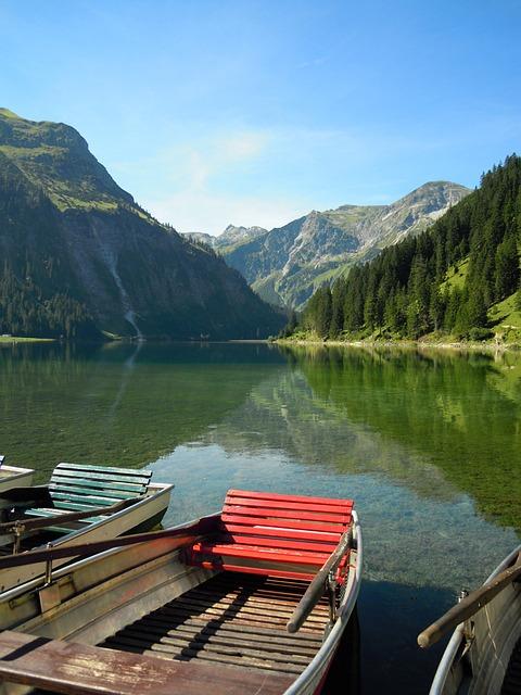 Nature, Vilsalpsee, Austria, Tannheimertal, Water