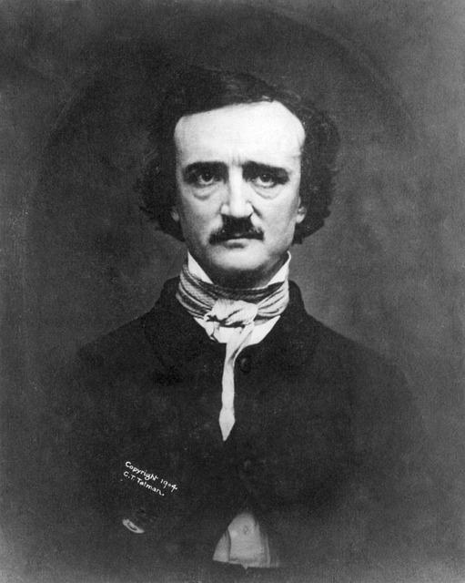 Portrait, Edgar Allan Poe, 1848, Writer, Author