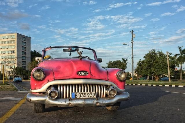 Cuba, Havana, Auto, Automotive, Taxi, Oldtimer, Car