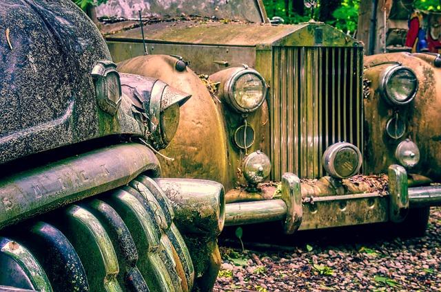 Auto, Limousine, Car Cemetery, Resting Place, Oldtimer