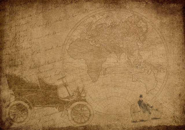 Auto, Map Of The World, Font, Steampunk, Drawing