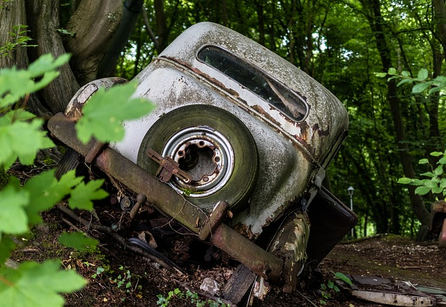 Auto, Car Cemetery, Historically, Oldtimer, Wreck