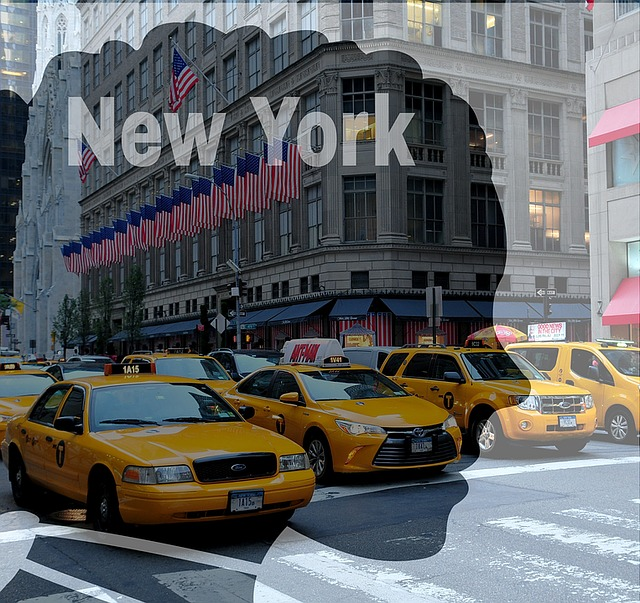 New York, Manhattan, Taxi, America, Usa, Road, Auto