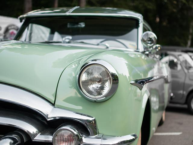 Auto, Oldtimer, Classic, Old, Automotive, Spotlight