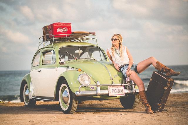 Automobile, Automotive, Beach, Beetle, Car, Fashion