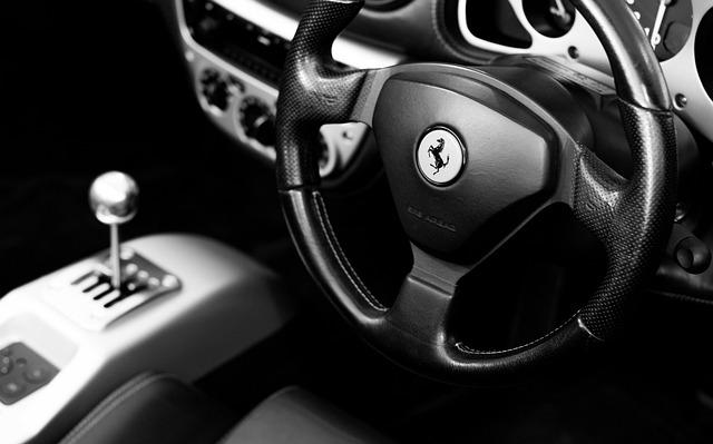 Ferrari 360, Ferrari, Automobile, Steering Wheel