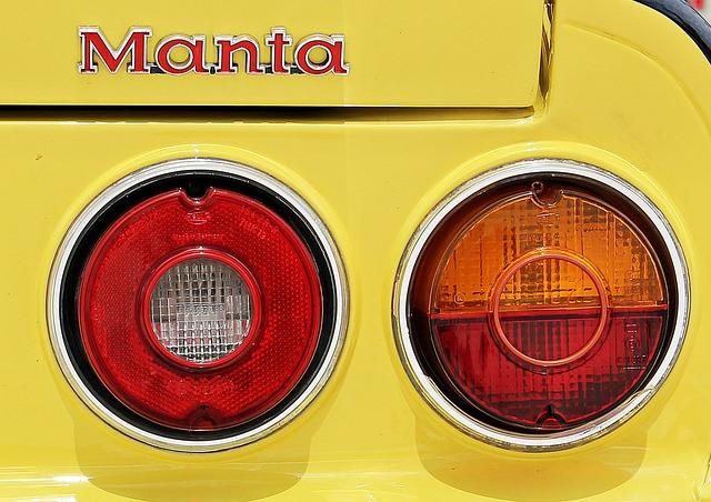 Manta, Auto, Oldtimer, Yellow, Classic, Automotive