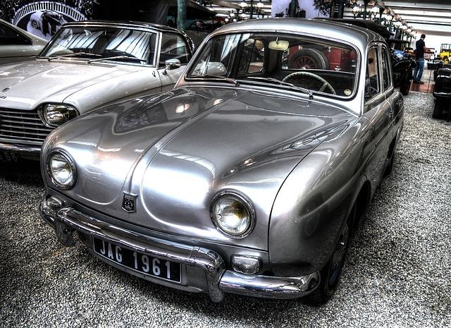 Renault, Dauphine, 1956, Oldtimer, Automotive
