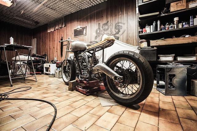 Motorbike, Garage, Repairs, Hobby, Automotive, Build