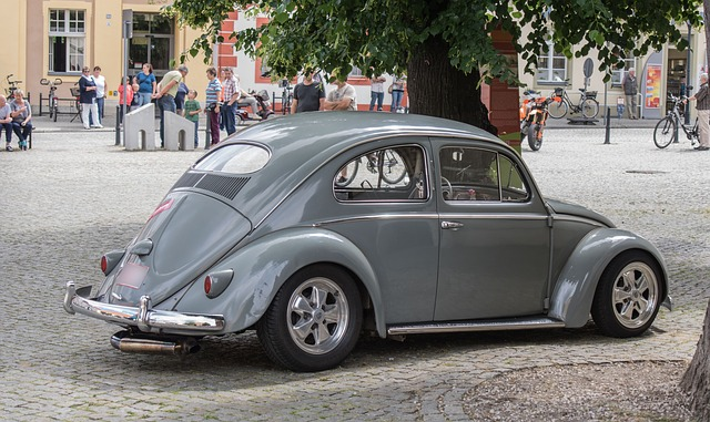 Auto, Vw, Beetle, Oldtimer, Classic, Automotive
