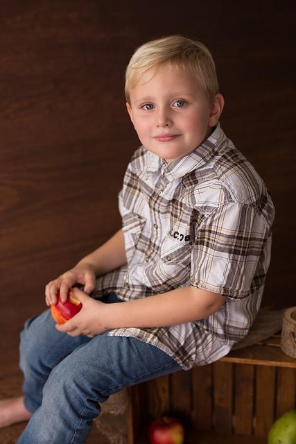 Child, Autumn, Apple, Harvest, Fruits, Fruit