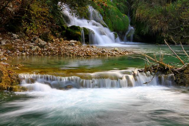 Water, Autumn, Nature, Landscape, Bach, Waterfall