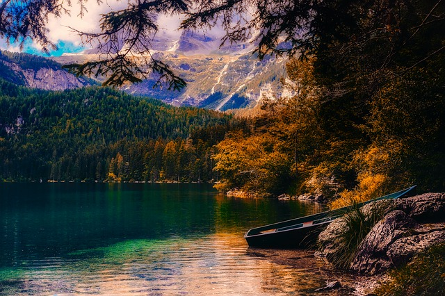 Italy, Lake, Water, Reflections, Fall, Autumn