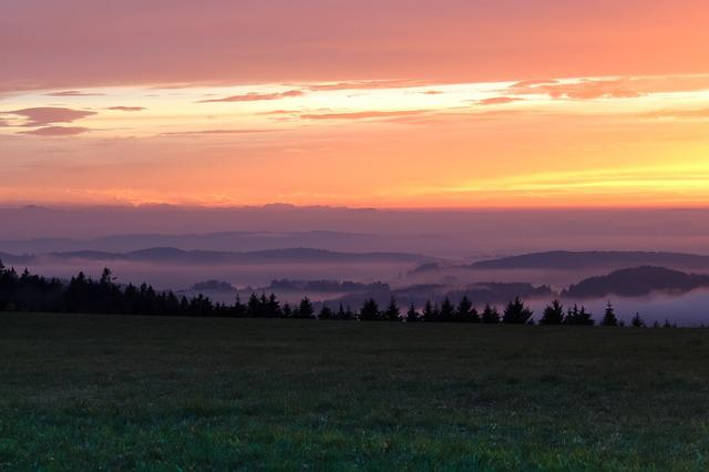 Lake Constance, Fog, Sunset, Mountains, Autumn, Alpine