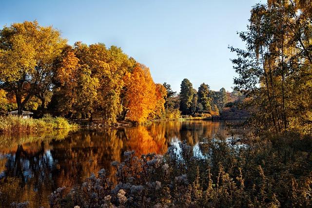 Gelsenkirchen, Castle Mountains, Autumn, Idyll, Park