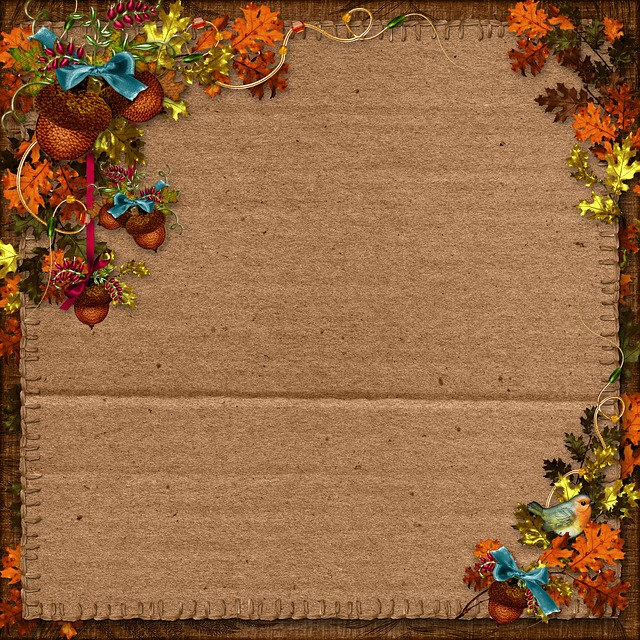 free photo autumn harvest paper background scrapbooking